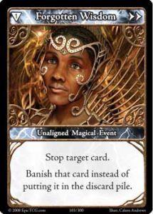 Epic Autres jeux de cartes 103 - Forgotten Wisdom [Set 1 - Cartes Epic]