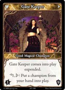 Epic Autres jeux de cartes 107 - Gate Keeper [Set 1 - Cartes Epic]