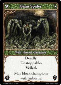 Epic Autres jeux de cartes 108 - Giant Spider [Set 1 - Cartes Epic]