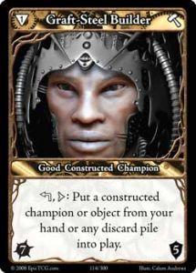 Epic Autres jeux de cartes 114 - Graft-Steel Builder [Set 1 - Cartes Epic]