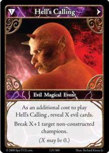 Epic Autres jeux de cartes 125 - Hell's Calling [Set 1 - Cartes Epic]