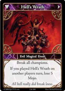 Epic Autres jeux de cartes 126 - Hell's Wrath [Set 1 - Cartes Epic]