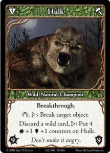 Epic Autres jeux de cartes 132 - Hulk [Set 1 - Cartes Epic]