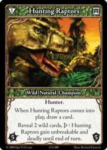 Epic Autres jeux de cartes 133 - Hunting Raptors [Set 1 - Cartes Epic]