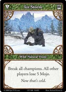 Epic Autres jeux de cartes 137 - Ice Storm [Set 1 - Cartes Epic]