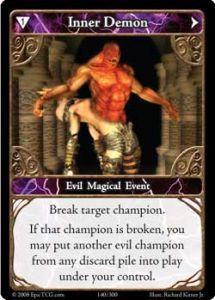 Epic Autres jeux de cartes 140 - Inner Demon [Set 1 - Cartes Epic]