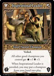 Epic Autres jeux de cartes 142 - Inspirational Leader [Set 1 - Cartes Epic]