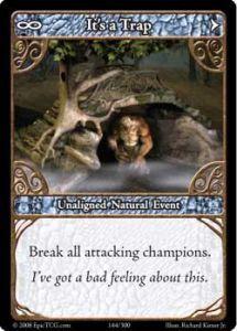 Epic Autres jeux de cartes 144 - It's A Trap! [Set 1 - Cartes Epic]