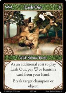 Epic Autres jeux de cartes 157 - Lash Out [Set 1 - Cartes Epic]