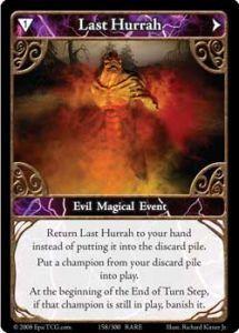 Epic Autres jeux de cartes 158 - Last Hurrah [Set 1 - Cartes Epic]