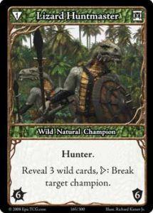 Epic Autres jeux de cartes 165 - Lizard Huntmaster [Set 1 - Cartes Epic]