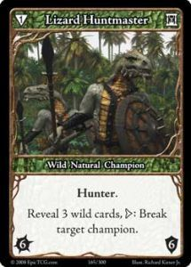 Epic Autres jeux de cartes 165 - Lizard Huntmaster [Set 1 - Cartes Epic]