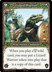 Epic Autres jeux de cartes 167 - Lizard Warrior [Set 1 - Cartes Epic]