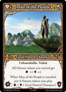 Epic Autres jeux de cartes 170 - Man of The People [Set 1 - Cartes Epic]