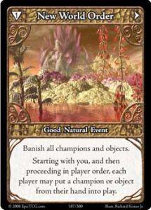 Epic Autres jeux de cartes 187 - New World Order [Set 1 - Cartes Epic]