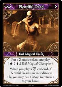 Epic Autres jeux de cartes 206 - Plentiful Dead [Set 1 - Cartes Epic]