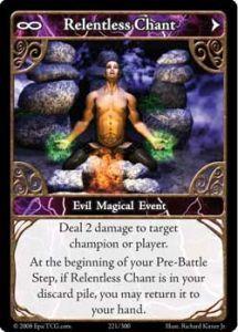 Epic Autres jeux de cartes 221 - Relentless Chant [Set 1 - Cartes Epic]