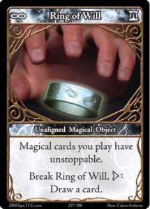 Epic Autres jeux de cartes 227 - Ring of Will [Set 1 - Cartes Epic]