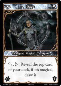 Epic Autres jeux de cartes 230 - Sage [Set 1 - Cartes Epic]