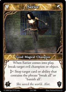 Epic Autres jeux de cartes 232 - Savior [Set 1 - Cartes Epic]