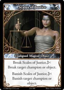 Epic Autres jeux de cartes 233 - Scales of Justice [Set 1 - Cartes Epic]