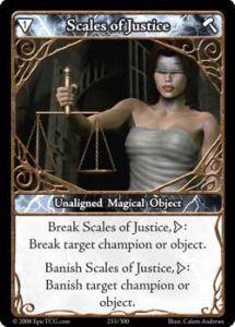 Epic Autres jeux de cartes 233 - Scales of Justice [Set 1 - Cartes Epic]