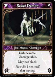 Epic Autres jeux de cartes 239 - Sewer Demon [Set 1 - Cartes Epic]