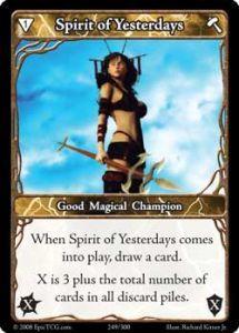 Epic Autres jeux de cartes 249 - Spirit of Yesterdays [Set 1 - Cartes Epic]
