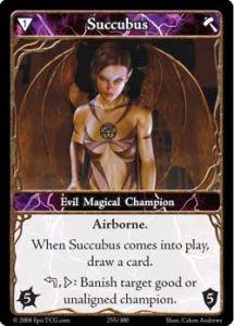 Epic Autres jeux de cartes 255 - Succubus [Set 1 - Cartes Epic]