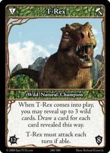 Epic Autres jeux de cartes 280 - T-Rex [Set 1 - Cartes Epic]