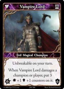 Epic Autres jeux de cartes 284 - Vampire Lord [Set 1 - Cartes Epic]