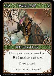 Epic Autres jeux de cartes 285 - Walk It Off [Set 1 - Cartes Epic]