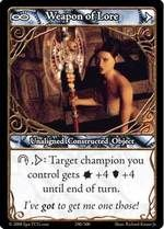 Epic Autres jeux de cartes 290 - Weapon of Lore [Set 1 - Cartes Epic]