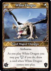 Epic Autres jeux de cartes 293 - White Dragon [Set 1 - Cartes Epic]