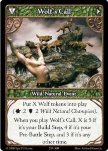Epic Autres jeux de cartes 297 - Wolf's Call [Set 1 - Cartes Epic]