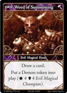 Epic Autres jeux de cartes 299 - Word of Summoning [Set 1 - Cartes Epic]