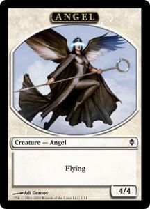 Tokens Magic Magic the Gathering Token/Jeton - Zendikar - Ange
