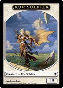 Tokens Magic Accessoires Pour Cartes Token/Jeton - Zendikar - Kor Et Soldat