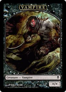 Tokens Magic Magic the Gathering Token/Jeton - Zendikar - Vampire