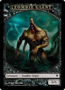 Tokens Magic Magic the Gathering Token/Jeton - Zendikar - Zombie Et Géant