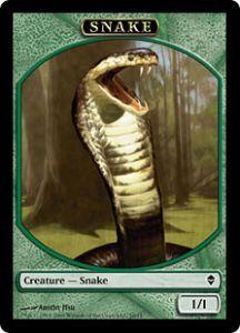 Tokens Magic Token/Jeton - Zendikar - Serpent