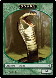 Tokens Magic Magic the Gathering Token/Jeton - Zendikar - Serpent