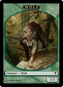 Tokens Magic Magic the Gathering Token/Jeton - Zendikar - Loup