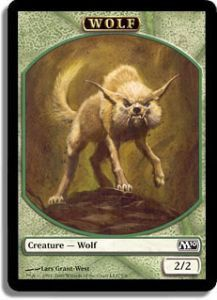 Token Magic Magic the Gathering Token/Jeton - Magic 2010 - 07/08 Loup
