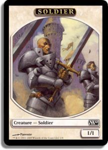 Tokens Magic Magic the Gathering Token/Jeton - Magic 2010 - 02/08 Soldat