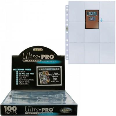 Classeurs et Portfolios Accessoires Pour Cartes Ultra Pro - Lot De 100 Feuilles De Classeur - [9-Pocket Pages Platinum] - ACC