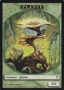 Tokens Magic Magic the Gathering Token/Jeton - Worldwake - Plante
