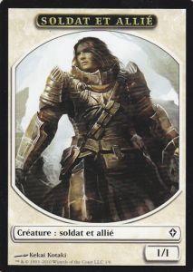 Tokens Magic Accessoires Pour Cartes Token/Jeton - Worldwake - Soldat Et Allié