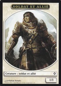 Tokens Magic Magic the Gathering Token/Jeton - Worldwake - Soldat Et Allié