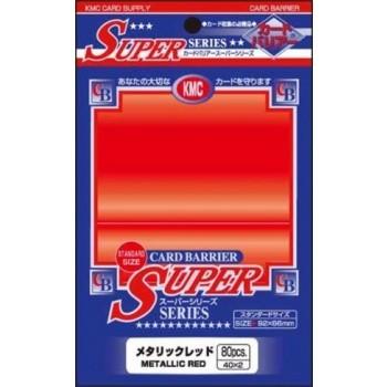 Protèges Cartes Accessoires Pour Cartes 80 pochettes - Super Series - Metallic Red